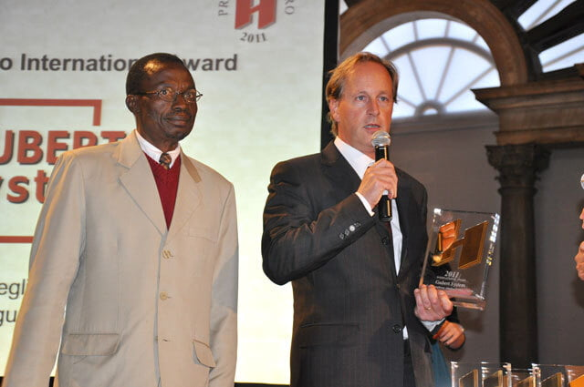 "2011 - Vincitori H D'ORO categoria ""International Award"" per un sistema di Videosorveglianza urbana in Nigeria"